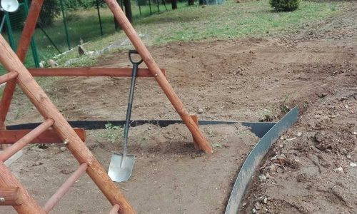 Terénní úpravy, instalace lemů