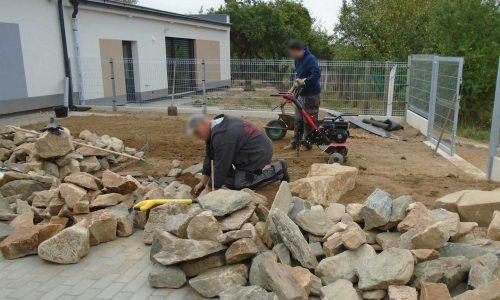 Terénní úpravy, práce s kamenem